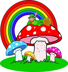 a_leprechaun_and_a_pot_of_gold_at_the_end_of_a_rainbow_on_colorful_mushrooms_0515-1003-1515-5614_SMU